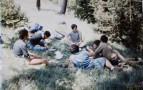 Pendant les grandes vacances,à Mont-Louis ( Pyrénées-Orientales ),rencontre entre Christian Baqué et des scouts de France élèves de Pierre Rouge.