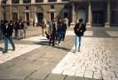 Arrivée du groupe sur la Plaza Mayor.