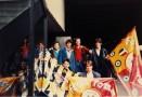 """Une arrivée très """" Tifosi """" pour certains participants au voyage... Debout,de gauche à droite : Dominique Darnala,Jérôme Claude,Christian Baqué et Nicolas Rage. Accroupis : Guilhem Gal et Olivier Nicollin."""