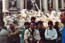 Devant la fontaine de Trévi. De gauche à droite,Jérôme Saint-Etienne,Christian Baqué,Olivier Nicollin,Guilhem Gal et Michèle Bernard,accompagnatrice.