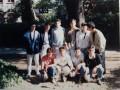 L'équipe de Terminale D, victorieuse de tous les tournois. La photo fut prise dans le parc.