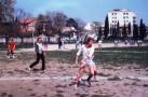 Au premier plan,Jean-Philippe Jodard,élève de Terminale A et futur champion de beach volley.