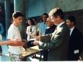 Sylvain Crébassa, interne de Terminale C, reçoit sa médaille.